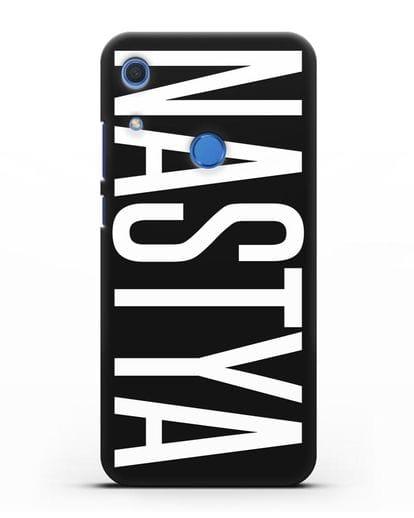 Чехол с именем, фамилией силикон черный для Huawei Y6s