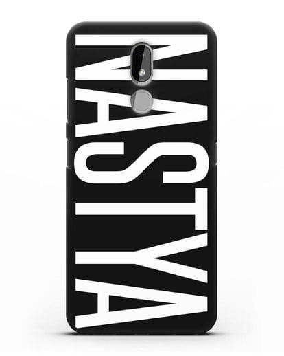 Чехол с именем, фамилией силикон черный для Nokia 3.2 2019