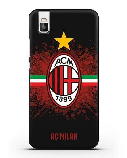 Чехол с эмблемой ФК Милан силикон черный для Honor 7i