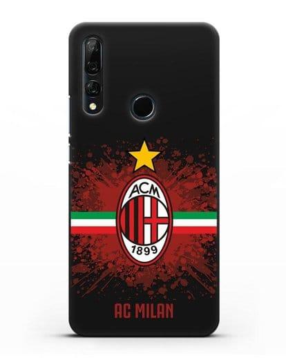 Чехол с эмблемой ФК Милан силикон черный для Honor 9X