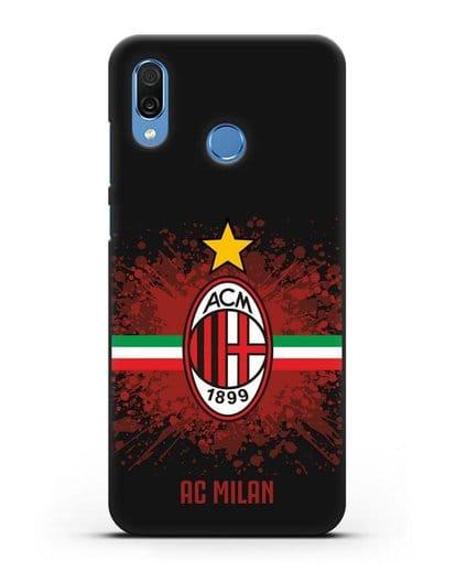Чехол с эмблемой ФК Милан силикон черный для Honor Play