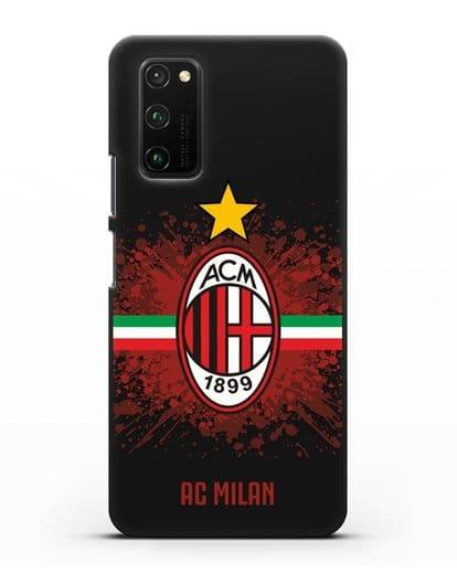 Чехол с эмблемой ФК Милан силикон черный для Honor View 30 Pro