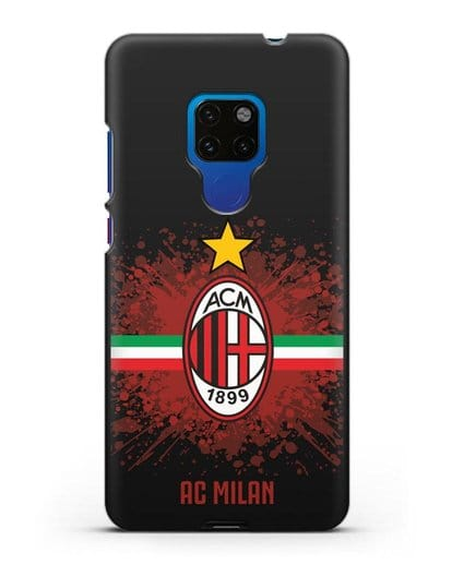 Чехол с эмблемой ФК Милан силикон черный для Huawei Mate 20