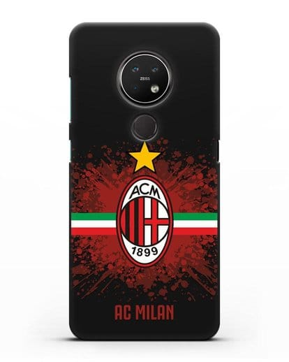 Чехол с эмблемой ФК Милан силикон черный для Nokia 7.2