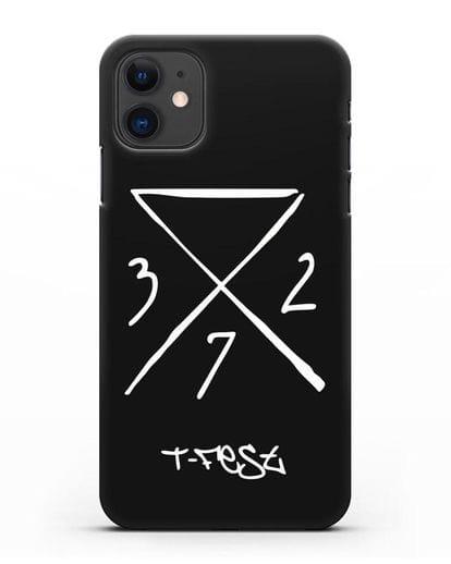 Чехол T-Fest 0372 силикон черный для iPhone 11