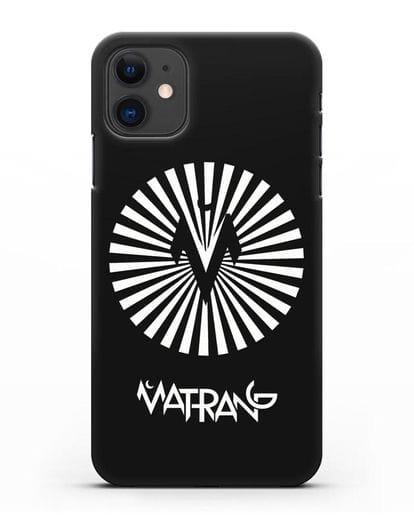 Чехол с логотипом Матранг силикон черный для iPhone 11