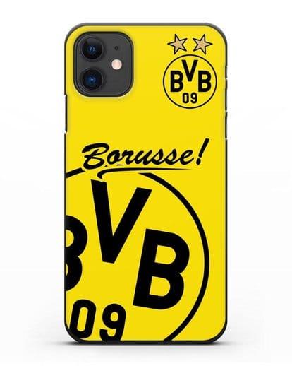 Чехол с эмблемой ФК Боруссия Дортмунд силикон черный для iPhone 11