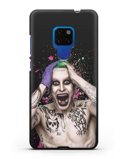 Чехол с иллюстрацией Джокер силикон черный для Huawei Mate 20