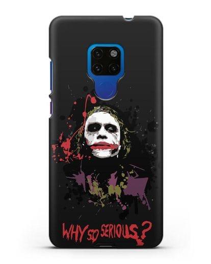 Чехол с картинкой Джокер Готэм силикон черный для Huawei Mate 20