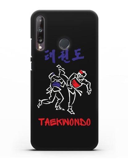 Чехол Taekwondo Спарринг силикон черный для Huawei P40 lite E
