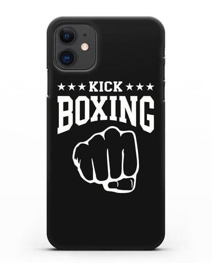 Чехол с надписью Kick Boxing силикон черный для iPhone 11