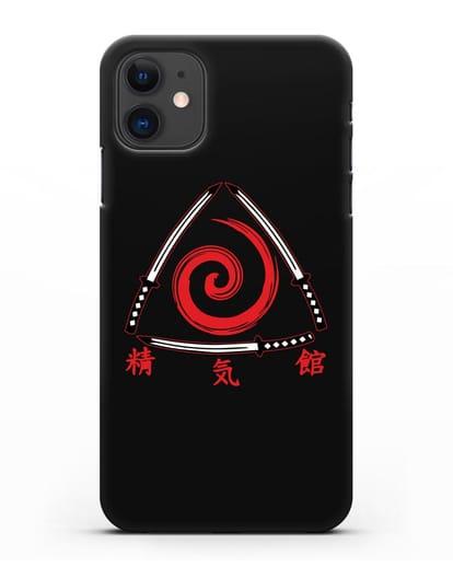 Чехол с логотипом Aikido силикон черный для iPhone 11