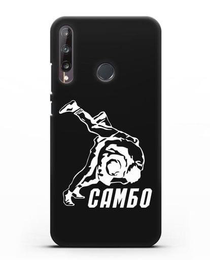 Чехол с надписью Самбо силикон черный для Huawei P40 lite E