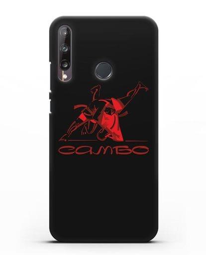 Чехол с иллюстрацией Самбо силикон черный для Huawei P40 lite E