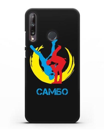 Чехол с изображением Самбо силикон черный для Huawei P40 lite E