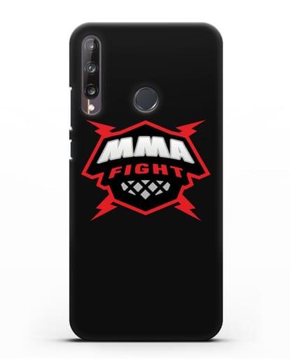 Чехол с логотипом MMA Fight силикон черный для Huawei P40 lite E