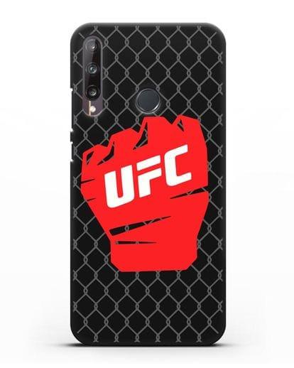 Чехол с изображенем UFC Перчатка силикон черный для Huawei P40 lite E