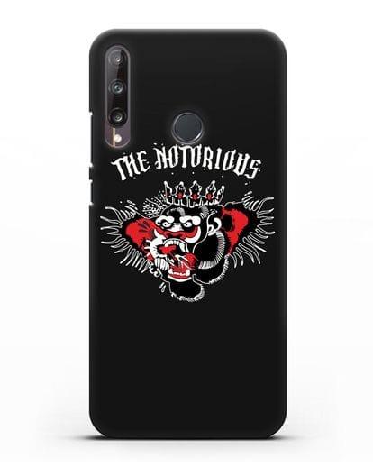 Чехол с логотипом The Notorious силикон черный для Huawei P40 lite E