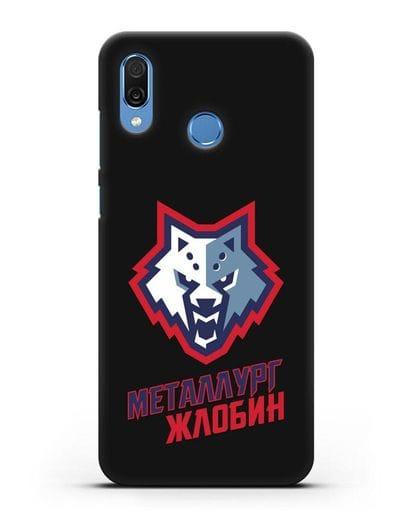 Чехол с логотипом ХК Металлург-Жлобин силикон черный для Honor Play