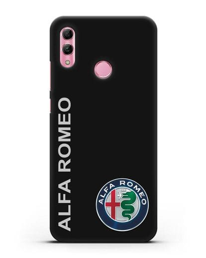 Чехол с надписью Alfa Romeo и логотипом силикон черный для Honor 10 Lite