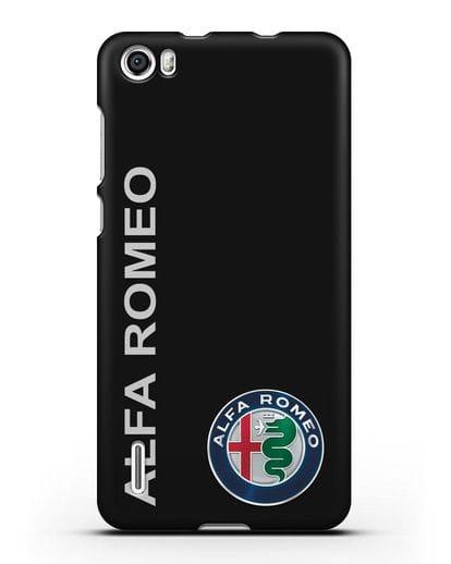 Чехол с надписью Alfa Romeo и логотипом силикон черный для Honor 6