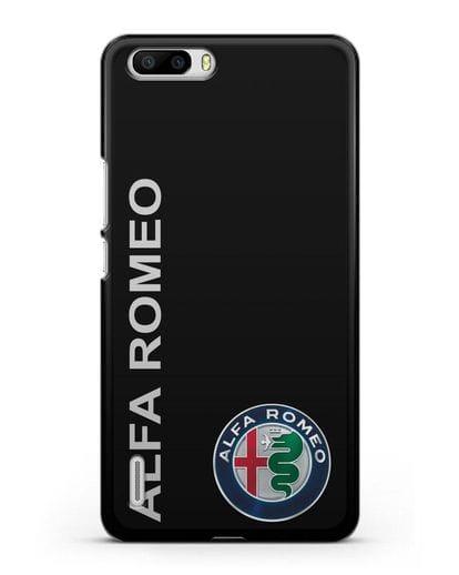 Чехол с надписью Alfa Romeo и логотипом силикон черный для Honor 6 Plus
