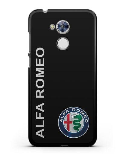 Чехол с надписью Alfa Romeo и логотипом силикон черный для Honor 6A