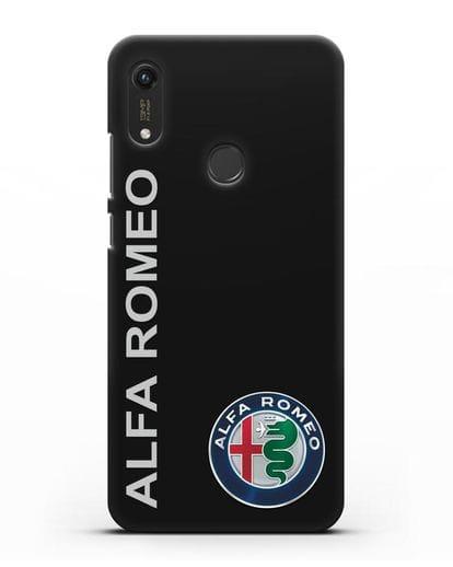 Чехол с надписью Alfa Romeo и логотипом силикон черный для Honor 8A Prime