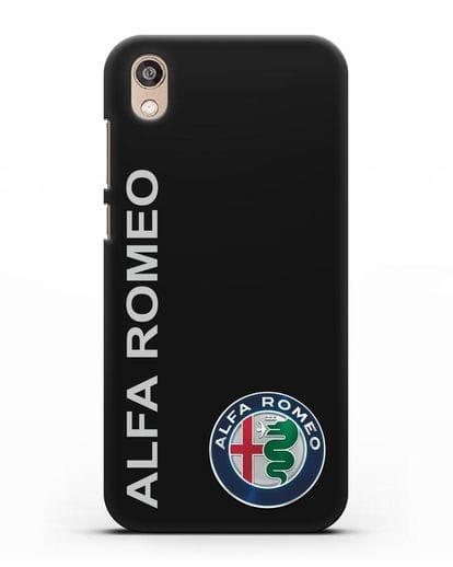 Чехол с надписью Alfa Romeo и логотипом силикон черный для Honor 8S Prime