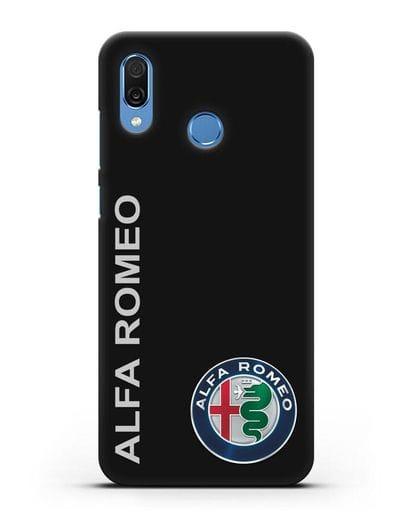 Чехол с надписью Alfa Romeo и логотипом силикон черный для Honor Play