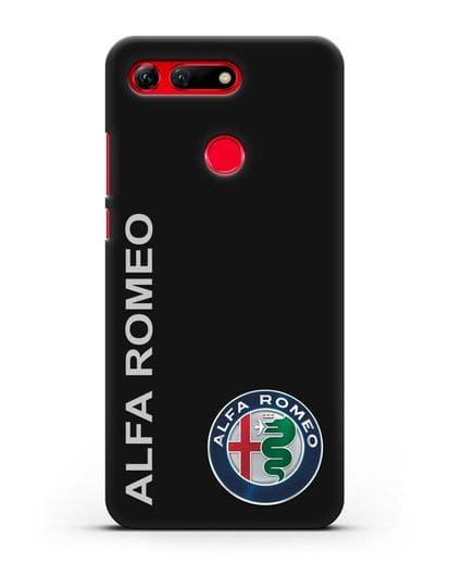 Чехол с надписью Alfa Romeo и логотипом силикон черный для Honor View 20