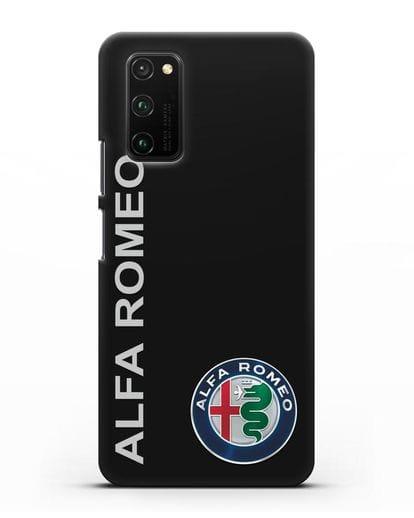 Чехол с надписью Alfa Romeo и логотипом силикон черный для Honor View 30 Pro
