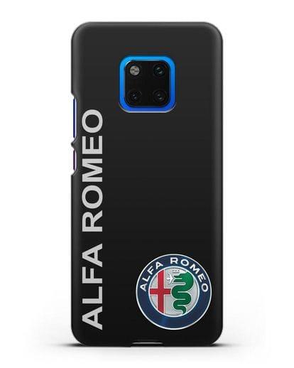 Чехол с надписью Alfa Romeo и логотипом силикон черный для Huawei Mate 20 Pro