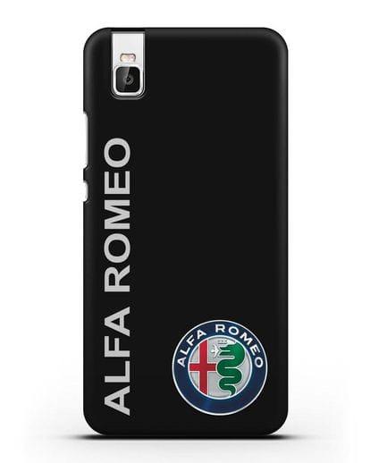 Чехол с надписью Alfa Romeo и логотипом силикон черный для Huawei Shot X