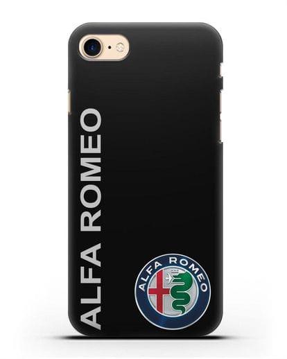 Чехол с надписью Alfa Romeo и логотипом силикон черный для iPhone SE 2020