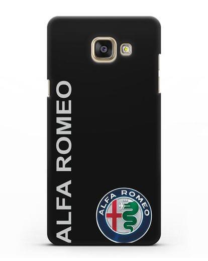 Чехол с надписью Alfa Romeo и логотипом силикон черный для Samsung Galaxy A7 2016 [SM-A710F]