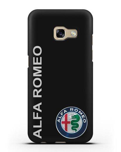 Чехол с надписью Alfa Romeo и логотипом силикон черный для Samsung Galaxy A7 2017 [SM-A720F]