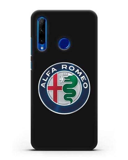 Чехол с логотипом Alfa Romeo силикон черный для Honor 10i