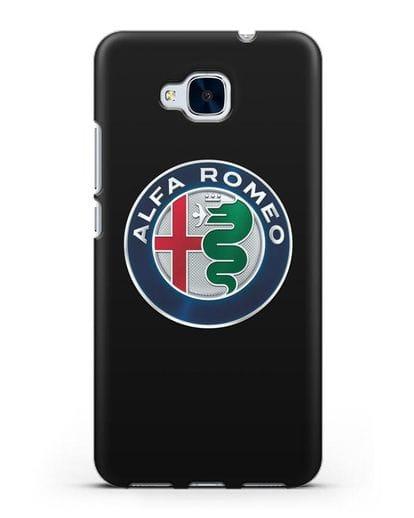 Чехол с логотипом Alfa Romeo силикон черный для Honor 5C