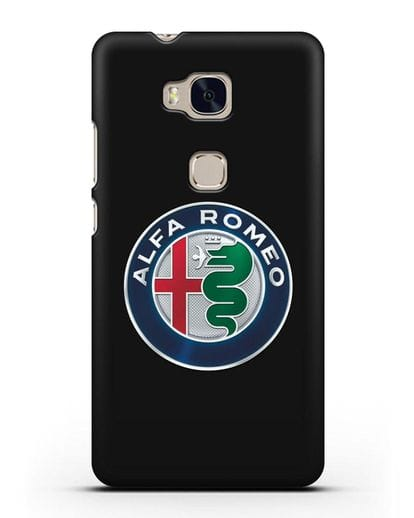 Чехол с логотипом Alfa Romeo силикон черный для Honor 5X