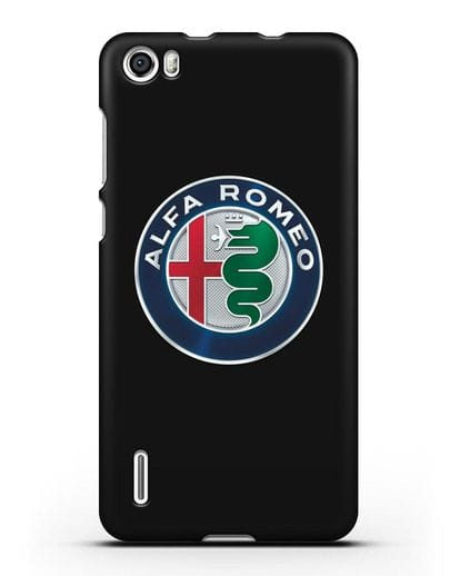 Чехол с логотипом Alfa Romeo силикон черный для Honor 6