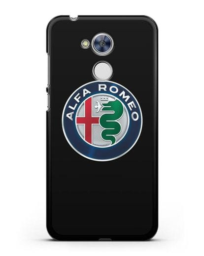 Чехол с логотипом Alfa Romeo силикон черный для Honor 6A