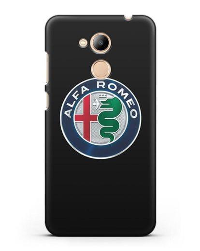 Чехол с логотипом Alfa Romeo силикон черный для Honor 6C Pro