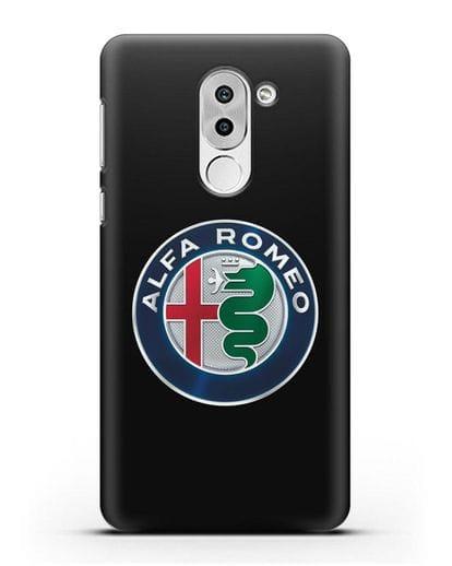 Чехол с логотипом Alfa Romeo силикон черный для Honor 6X