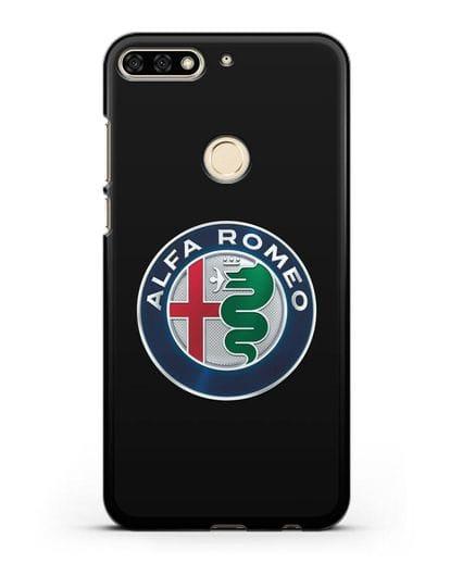 Чехол с логотипом Alfa Romeo силикон черный для Honor 7C