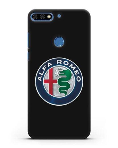 Чехол с логотипом Alfa Romeo силикон черный для Honor 7C Pro