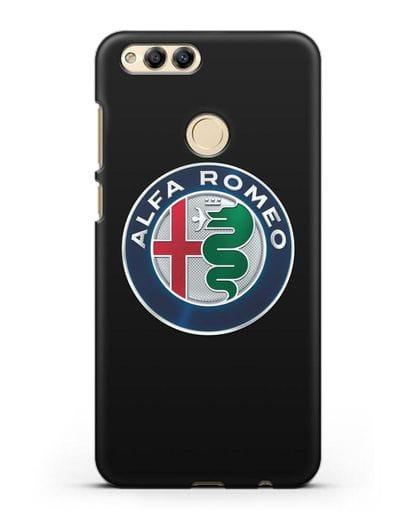 Чехол с логотипом Alfa Romeo силикон черный для Honor 7X