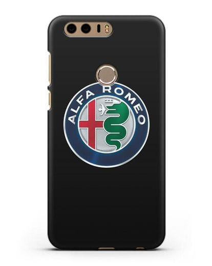 Чехол с логотипом Alfa Romeo силикон черный для Honor 8