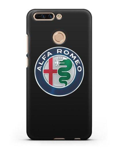 Чехол с логотипом Alfa Romeo силикон черный для Honor 8 Pro