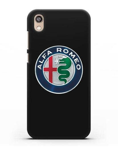 Чехол с логотипом Alfa Romeo силикон черный для Honor 8S Prime
